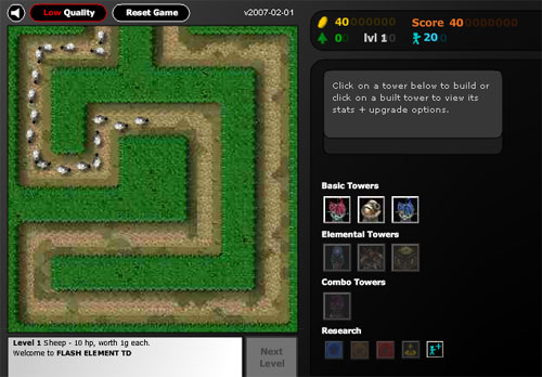tower defence games flash