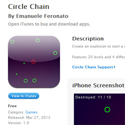 Circle Chain available for free on iTunes App Store