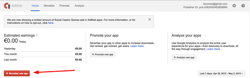 How to include AdMob ads in your HTML5 iOS game using PhoneGap