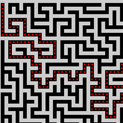 Pure JavaScript A* maze solving – with a bit of magic thanks
