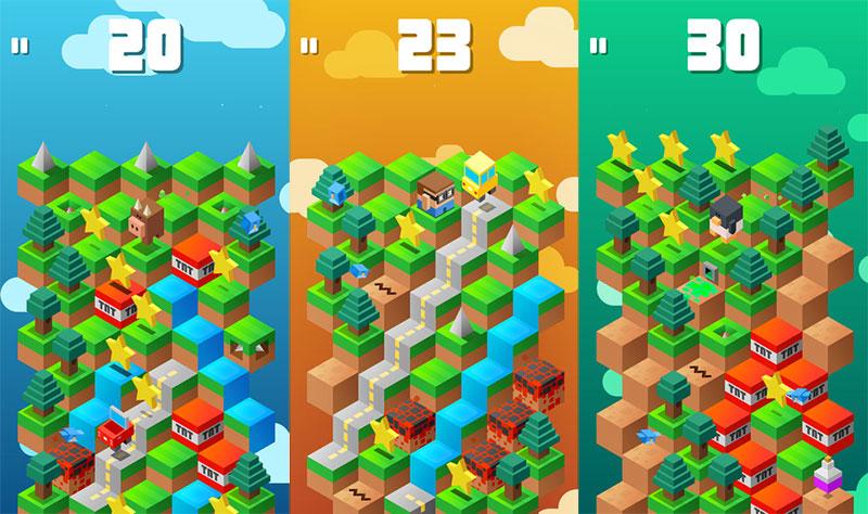 The hexagonal concept behind iOS blockbuster Down The Mountain ...