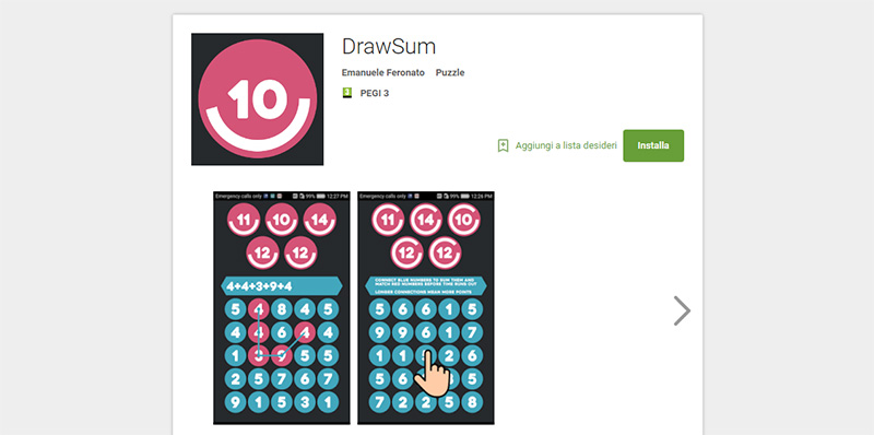Play DrawSum, my first HTML5 game ported to Android